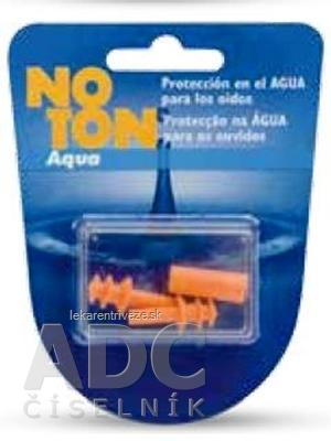 NO TON Aqua Ušné vložky s aplikátorom, 1x2 ks