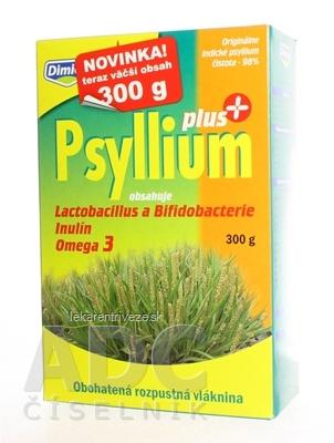 Dimica Psyllium PLUS obohatená rozpustná vláknina, s laktobacilmi a bifidobaktériami, 1x300 g