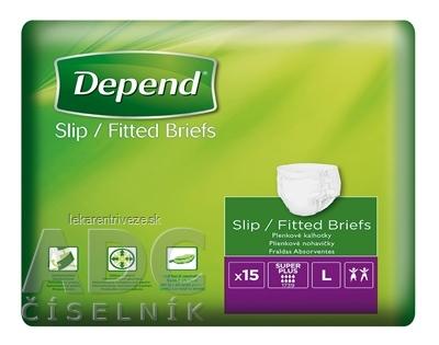 DEPEND Slip SUPER PLUS L priedušné plienkové nohavičky 1x15 ks