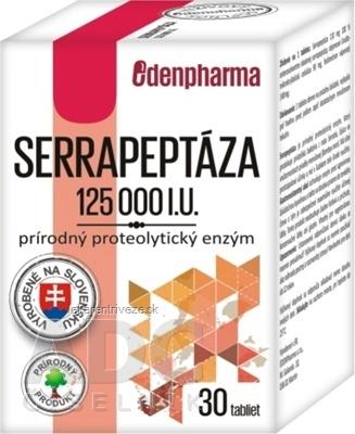 EDENPharma SERRAPEPTÁZA 125 000 I.U. tbl prírodný enzým 1x30 ks
