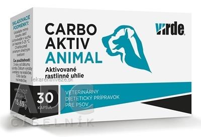 VIRDE CARBO AKTIV ANIMAL cps (aktivované rastlinné uhlie pre psov) 1x30 ks