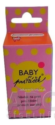 BABY Prstiačik pre batoľatá návlek na prst pre čistenie prvých zúbkov 1x1 ks