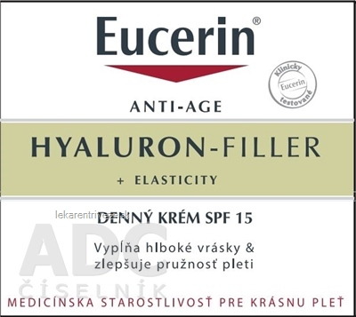 Eucerin HYALURON-FILLER+ELASTICITY denný krém SPF 15, 1x50 ml