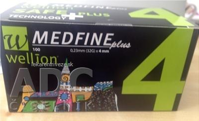 Wellion MEDFINE plus Penneedles 4 mm ihla na aplikáciu inzulínu pomocou pera 1x100 ks