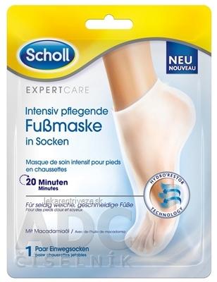 Scholl Expert Care vyživujúca maska na nohy s makadamiovým olejom 1x1 pár