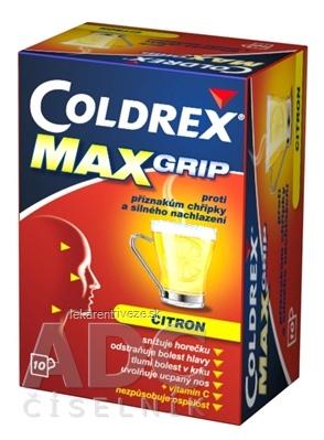 COLDREX MaxGrip Lemon plo por (vrecko papier/PE/Al/PE) 1x10 ks