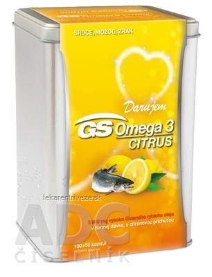 GS Omega 3 CITRUS darček 2019 cps (strieborná dóza) 100+50 (150 ks)