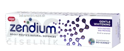 ZENDIUM Gentle Whitening zubná pasta 1x75 ml