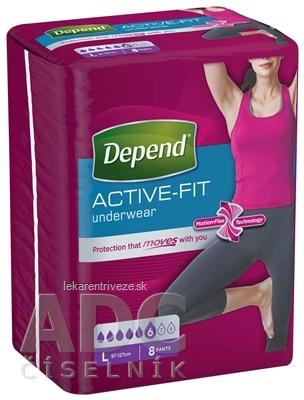 DEPEND ACTIVE-FIT L pre ženy inkontinenčné nohavičky, veľkosť L (97-127 cm) 1x8 ks