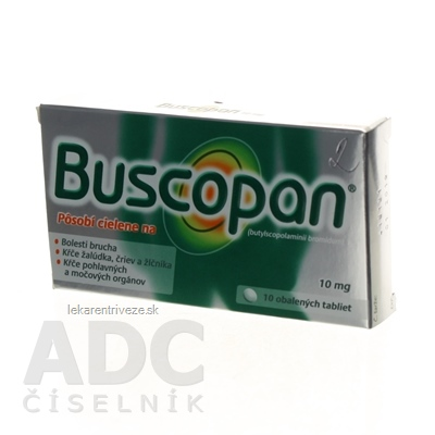 Buscopan tbl obd 10 mg (blis.) 1x10 ks