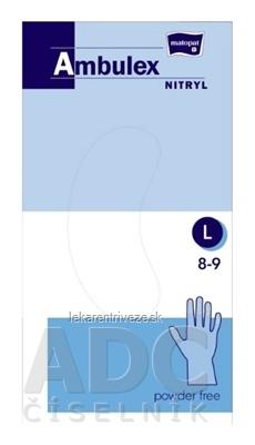 Ambulex rukavice NITRYLOVÉ veľ. L, modré, nesterilné, nepúdrované, 1x100 ks