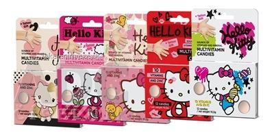 Vieste Multivitamín Hello Kitty + tetovanie BOX cukríky 12x(12 ks + 1 tetovanie), 12x1 set