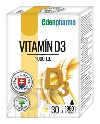 EDENPharma VITAMÍN D3 1000 I.U. kvapky 1x30 ml