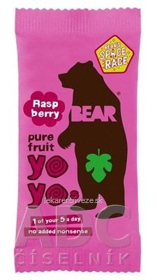 BEAR Malinové yoyo (Raspberry pure fruit) ovocné rolky 1x20 g