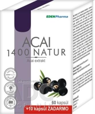EDENPharma ACAI 1400 NATUR cps 60+10 zadarmo (70 ks)