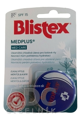 Blistex MedPlus balzam na pery, krém 1x7 ml