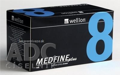 Wellion MEDFINE plus Penneedles 8 mm ihla na aplikáciu inzulínu pomocou pera 1x100 ks