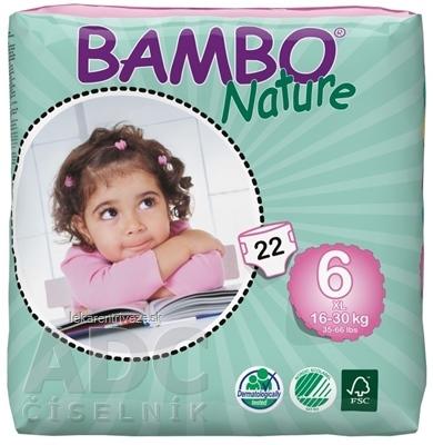 BAMBO XL 6 (16-30 kg) detské plienkové nohavičky, priedušné 1300 ml, 1x22 ks