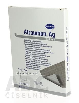 ATRAUMAN AG kompres impregnovaný, obsahuje striebro (5x5cm) 1x3 ks