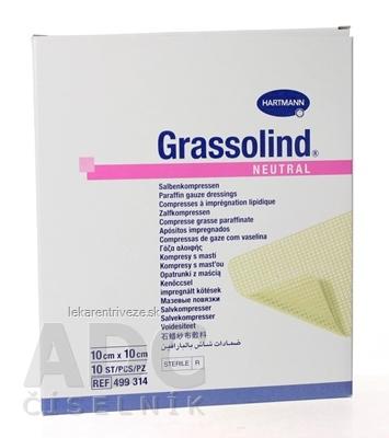 GRASSOLIND NEUTRAL mastný tyl sterilný, impregnovaný neutrálnou masťou (10x10 cm) 1x10 ks