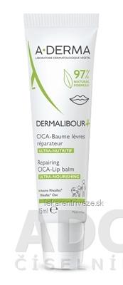 A-DERMA DERMALIBOUR+ Reparačný CICA-Balzam pre popraskané a podráždené pery 1x15 ml