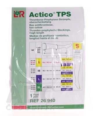 ACTICO TPS S NORMAL elastické pančuchy stehenné 1x1 pár
