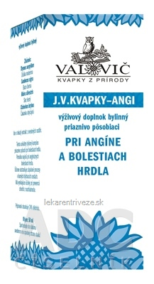 J.V. KVAPKY - ANGI pri bolestiach hrdla 1x50 ml