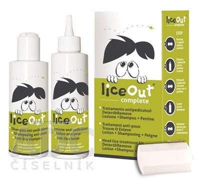 LiceOut complete šampón 125 ml + lotion 125 ml + hrebeň, 1x1 set
