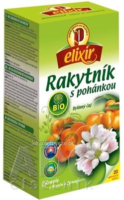 AGROKARPATY BIO Rakytník s pohánkou bylinný čaj, balené vrecúška, 20x1,5 g (30 g)