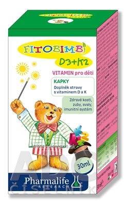Pharmalife Vitamín D3 + K2 pre deti kvapky 1x30 ml