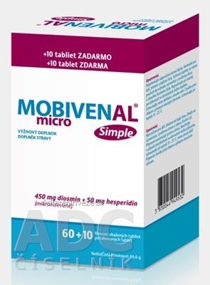 MOBIVENAL micro Simple tbl flm 60+10 zadarmo (70 ks)