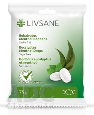 LIVSANE Bylinné pastilky mentol, eukalyptus bez cukru 1x75 g