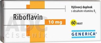 GENERICA Riboflavin 10 mg tbl 1x60 ks