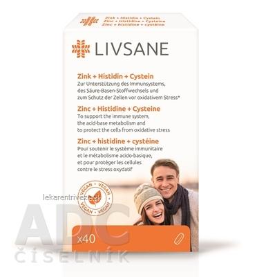 LIVSANE Zinok + Histidín + Cystein tbl 1x40 ks