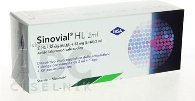 Sinovial HL 3,2% roztok kys. hyalurónovej v injekčnej striekačke s ihlou, do kĺbov 1x2 ml