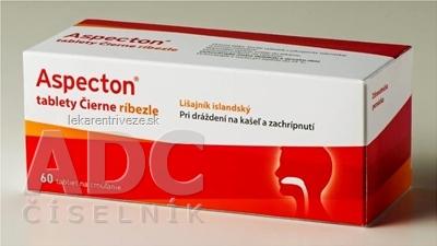 Aspecton tablety Čierne ríbezle s islandským lišajníkom 1x60 ks