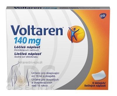 Voltaren 140 mg liečivá náplasť emp med (nápl.pap./Alu/PEX laminát) 1x5 ks