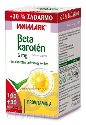 WALMARK Beta karotén 6mg cps 100+30 ks zadarmo (130 ks)