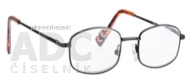 FGX Okuliare na čítanie Premium +1.0 D, Black, + puzdro + šnúrka, 1x1 ks