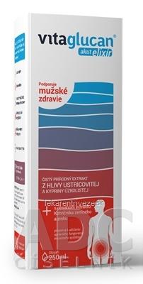 VITAGLUCAN Akut ELIXÍR extrakt z Hlivy + s obsahom Kotvičníka a zinku, 1x250 ml
