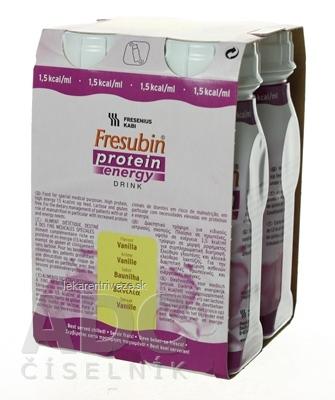 Fresubin Protein energy DRINK EasyBottle, príchuť vanilka, 4x200 ml (800 ml)