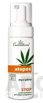 Cannaderm ATOPOS umývacia pena pri atopii a psoriáze 1x180 ml