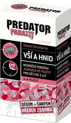 PREDATOR PARAZIT pri výskyte vší a hníd PACK sérum 100 ml + šampón 100 ml + kovový hrebeň zdarma, 1x1 set
