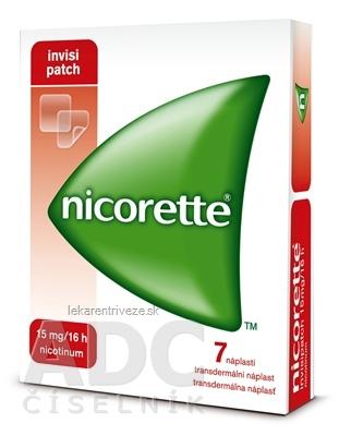 Nicorette invisipatch 15 mg/16 h transder. náplasť emp tdm (vrecko papier/PET/Al-PAN) 1x7 ks