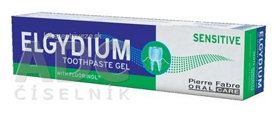 ELGYDIUM SENSITIVE gélová zubná pasta s fluorinolom k ochrane citlivých zubov 1x75 ml