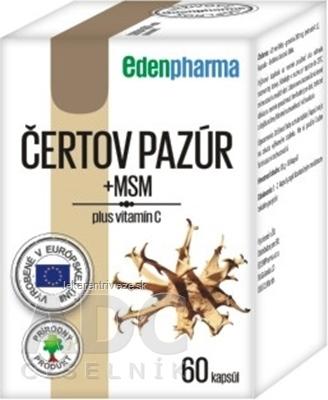 EDENPharma ČERTOV PAZÚR + MSM cps 1x60 ks