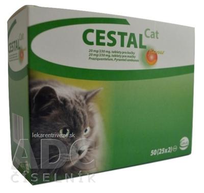 CESTAL CAT flavour 20 mg/230 mg tablety pre mačky 25x2 ks (50 ks)