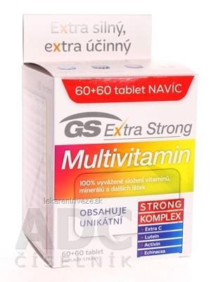 GS Extra Strong Multivitamín 2017 tbl 60+60 navyše (120 ks)