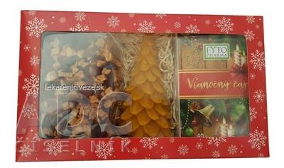FYTO Darčeková kazeta Vianoce Vianočný čaj: sypaný 100 g + porciovaný 20x2 g (40 g) + sviečka, 1x1 set