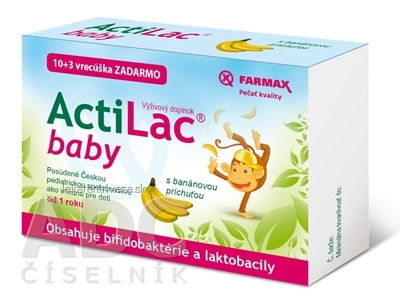 FARMAX ActiLac baby vrecúška (s banánovou príchuťou) (10+3 ks zadarmo) 1x13 ks